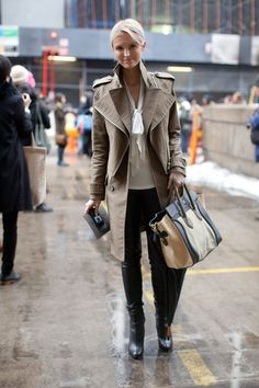 Our favorite street style looks for the winter weather. Click for more!