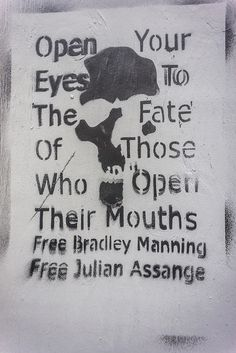 Nothing is more inspiring than someone standing up... against all odds.... regardless of the punishment they may receive, for what's right! Free Chelsea. Free Assange...