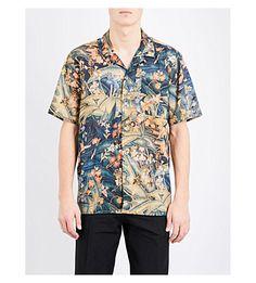 DRIES VAN NOTEN Carlton Floral-Print Cotton Shirt. #driesvannoten #cloth # shirts