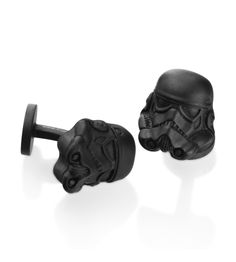 Cufflinks Inc. - Star Wars Collection Black 3D Storm Trooper Helmet Cufflinks