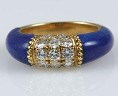 Lapis Lazuli Diamond Ring