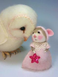 Dressed Mouse/Bunny Class Needle Felting Needle Felted por barby303