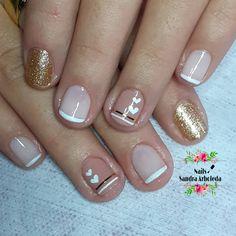 Pedicure Manicure, Girls Nails, Wedding Nails, Erika, Nail Designs, Nail Art, Beauty, Finger Nails, Simple Elegant Nails
