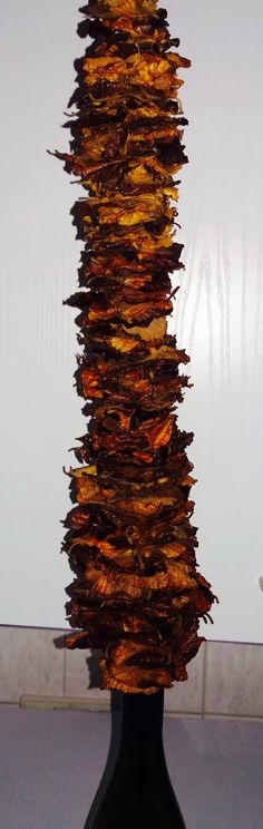 Toverhazelaar = Hamamelis blad gestapeld op ijzerdraad 2 mm Des. Paul Boerrigter