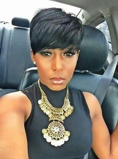 Short wigs pixie wigs for black women human hair wigs lace front wigs african american women short pixie hair styles Short Black Hairstyles, Pixie Hairstyles, Short Hair Cuts, Short Pixie, Pixie Cuts, Pixie Haircuts, Black Pixie Haircut, Bob Short, Teenage Hairstyles