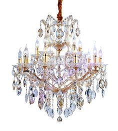 Graceful Crystal Gold Chandelier