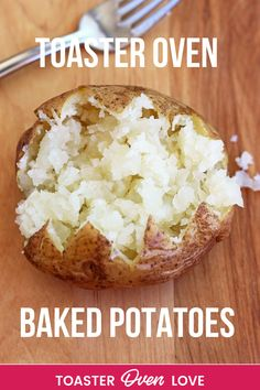 Step by step directions for making THE BEST tasting toaster oven baked potatoes. Toaster Oven Baked Potato, Toaster Oven Cooking, Toaster Oven Recipes, Mug Recipes, Fruit Recipes, Veggie Recipes, Vegetarian Potato Recipes, Making Baked Potatoes, Oven Vegetables