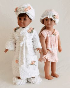 "Maggie's Crochet · 18"" Dolls Bella & Bridget's Bedtime Set Crochet Pattern"