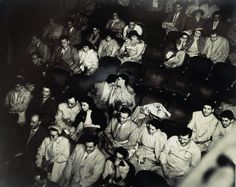 Weegee (Arthur Fellig) Audience in the Palace Theater Famous Photographers, Street Photographers, We Heart It, Weegee, Dream Theater, Photography Themes, White Photography, Romanticism, Black And White Pictures