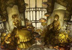 Tags: Fanart, Vocaloid, Kagamine Rin, Kagamine Len, Story of Evil, Pixiv, Kagamine Mirrors, Fanart From Pixiv, Akuno-p, Pixiv Id 114586, Evillious Chronicles