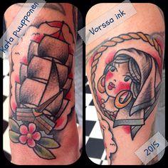 https://www.facebook.com/VorssaInk/, http://tattoosbykata.blogspot.com, #tattoo #tatuointi #katapuupponen#vorssaink #forssa #finland #traditionaltattoo #suomi #oldschool #pinup #gypsy #ship