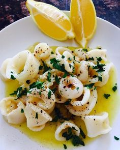 Squid Recipes, Fish Recipes, Seafood Recipes, Cooking Recipes, Healthy Recipes, Delicious Recipes, Cooking Tips, Squid Dishes, Gourmet