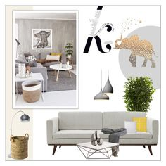 """""""Untitled #2178"""" by deeyanago ❤ liked on Polyvore featuring interior, interiors, interior design, home, home decor, interior decorating, KAROLINA, Nearly Natural, Dot & Bo and Orla Kiely"""