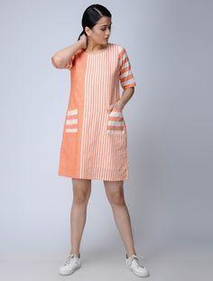 Tunic Designs, Kurta Designs Women, Designs For Dresses, Simple Dresses, Casual Dresses For Women, Clothes For Women, Cotton Dresses Online, Dress Online, White Cotton Dresses