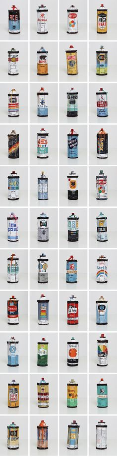 Vintage spray paint can designs