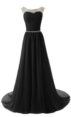 Custom Beaded Long Prom Dress