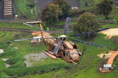 CH-53 Yasur 2025  Flying on green.