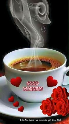 a beautiful Good Morning images - New Ideas Good Morning Coffee Gif, Good Morning Roses, Good Morning Cards, Latest Good Morning, Good Morning My Friend, Good Morning Picture, Good Morning Messages, Good Morning Greetings, Good Morning Images