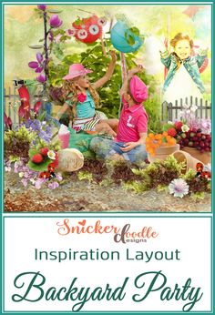 Backyard Party by Snickerdoodle Designs was used to create this fun page by Zanthia! Feels like I could step right up and join the party!