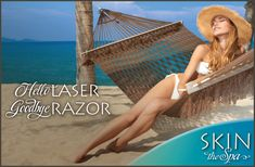 Kiss your razor goodbye, via the Cutera laser treatment for hair removal, from SKIN the Spa at Runnels Center! Hair may be removed from many parts of the body including face, legs, arms, underarms, back and bikini area quickly and safely. Suitable for both men and women.