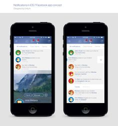 Facebook iOS 7 Notifications by Unity