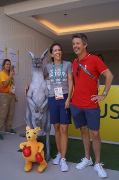 The Crown Prince couple visited both Danish & Australian athletes