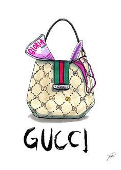 GUCCI BAG #illustration by Achraf Amiri