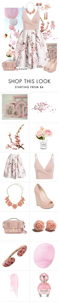 """""""Delicate"""" by indicupcake ❤ liked on Polyvore featuring Shabby Chic, Dorothy Perkins, Language Of Flowers, Chanel, Jessica Simpson, Kate Spade, Eos and Marc Jacobs"""