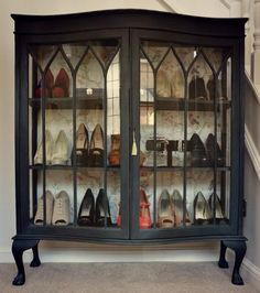 My beautiful shoe cabinet display. That holds all my favourites ...