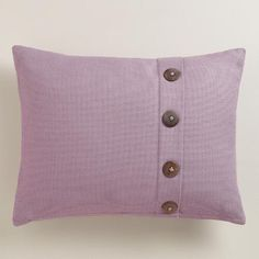 One of my favorite discoveries at WorldMarket.com: Purple Basket Weave Cotton Lumbar Pillow