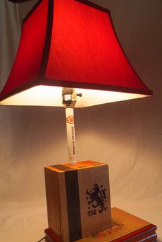 Cigar Box Lamp-The Lion Crest by JimmysBrightIdeas on Etsy