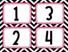 These are book basket labels, but they make great numeral cards! Numbers 1-30 included.