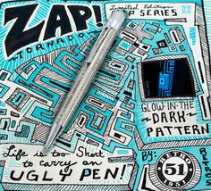 Retro 51 Zap Tornado. Bamboo Pen, Vintage Pens, Stationery Pens, Pen Pals, Best Pens, The Darkest, Ink, Retro, Pattern