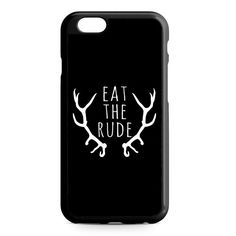 Eat The Rude iPhone 4/4S/5/5S/5C/6/6S/6+/6S+ Heavy Duty Case