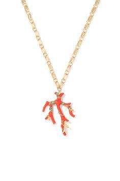 Aurélie Bidermann spring 2014 jewelry. Orange necklace