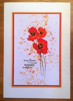 Wendy's Card Craft: Another lovely workshop day! Penny Black Karten, Penny Black Cards, Watercolor Poppies, Watercolor Cards, Simple Card Designs, Poppy Cards, Sympathy Cards, Flower Cards, Scrapbook Cards