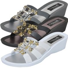 4ac1e7e738bd Grandco Sandals - Celeste Wedge Slide 28213