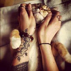 Cute tat, cuter cat :)