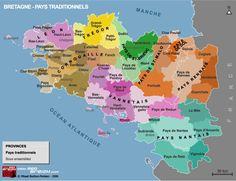 Cartes des régions de Bretagne