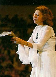 I remember growing up watching and listening to Kathryn Kuhlman every Sunday morning. She had a strange way of doing things but she inspired me in her calling and ministry.
