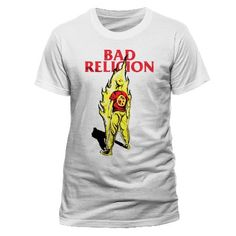 BAD Religion - Flame T-shirt White Small ... (Barcode EAN=5054015145183) http://www.MightGet.com/march-2017-1/bad-religion--flame-t-shirt-white-small.asp
