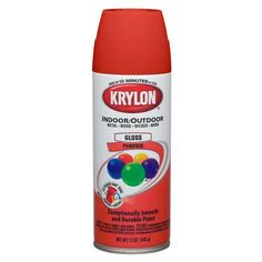 Krylon 52411 Decorator Spray Enamel, 12 Oz, Pumpkin Orange