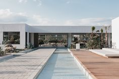 Casa Cook · Rhodes, Greece – architect Vana Pernari, interior designer Annabell Kutucu and concept developer Michael Schickinger Hotel Architecture, Minimalist Architecture, Casa Cook Hotel, Aruba Resorts, Inside Outside, Rhodes, Outdoor Spaces, Interior And Exterior, Beautiful Homes