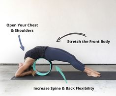 Open Chest, Shoulders, Front Body and Build Spine and Back Flexibilty with the Yoga Wheel
