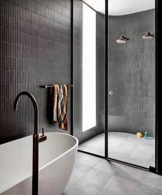 See Bella Vie Interiors for more kitchen, bathroom and laundry inspiration. Wc Bathroom, Bathroom Renos, Laundry In Bathroom, Bathroom Goals, Modern Bathroom, Bathroom Ideas, Restroom Design, Bathroom Interior Design, Home Interior