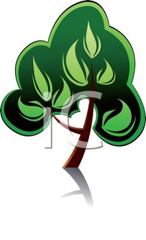 iCLIPART - Royalty Free Clipart Image of a Tree