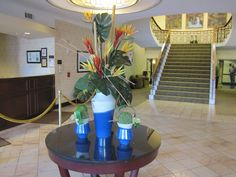 Our summer florals displayed throughout our hotel lobby.