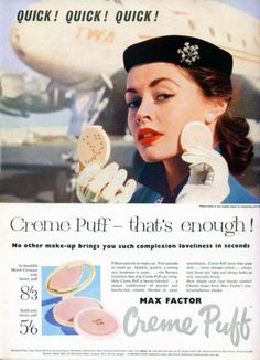 Maxfactor 1956 Quick, quick, quick! #stewardess
