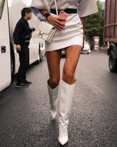 Love Fashion, Fashion Models, Autumn Fashion, Fashion Trends, Casual Outfits, Fashion Outfits, Cool Style, My Style, White Boots