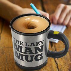 The Lazy Mug avec mélangeur automatique #gadget #pratique #mug #fun #café #thé #cadeau #fainéant